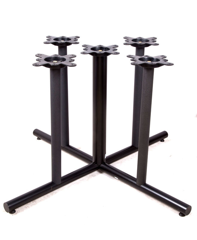 2201 Metal Tube Table Legs Black Wrincle Powder Coating Cast Iron Table Base
