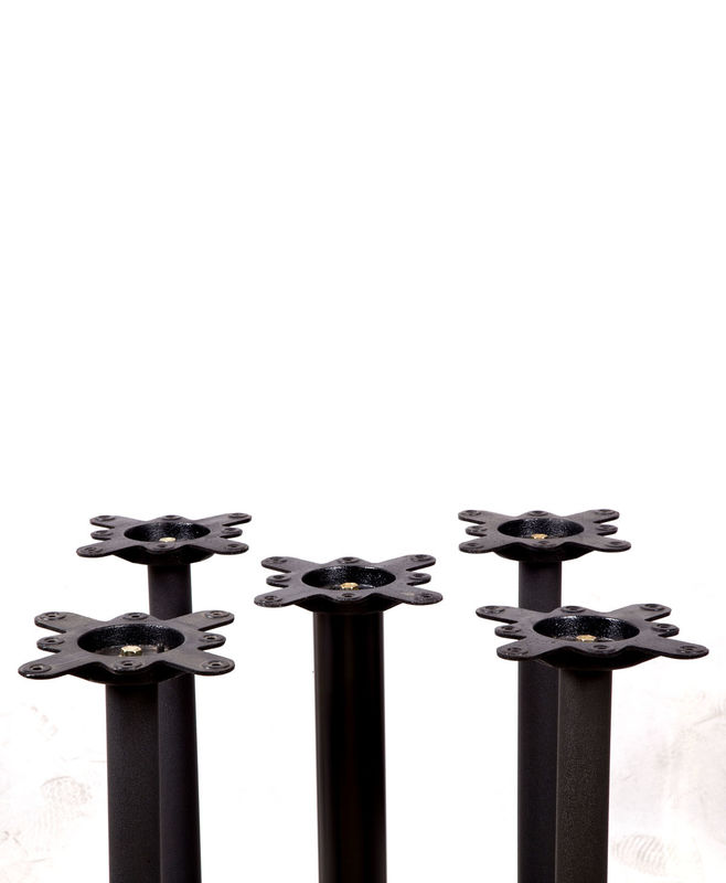 Powder Coated Metal Table Legs Shape Customized For Restaurant 2202