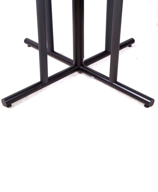 "Customized Cast Iron Table Base 27.75"" / 40.75"" Height For Restaurant Table"