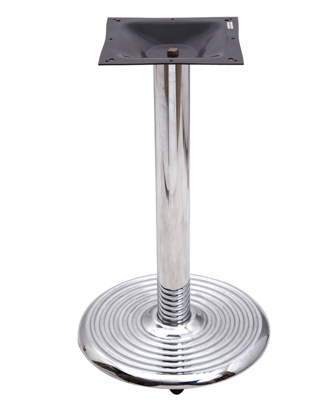 0401c Bistro Table Base  Chrome Table Legs With 18' /22'/28' Round Base Outdoor